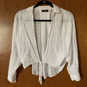 Urban outfitters tie front collared shirt